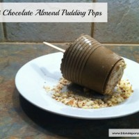 Chocolate Almond Pudding Pops