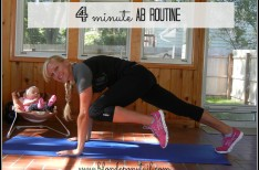 4 Minute Ab Routine