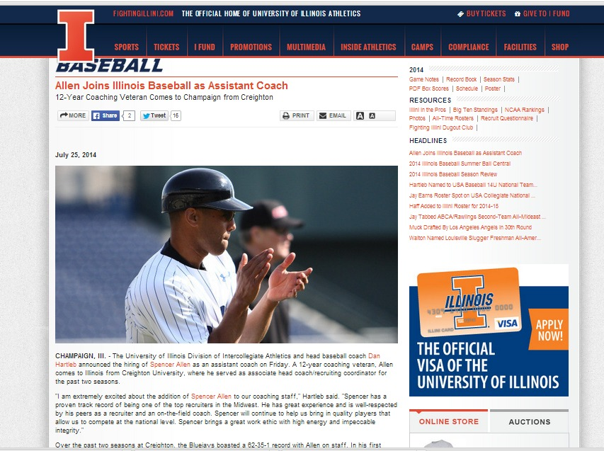 Allen joins Illinois