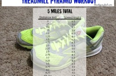 Treadmill Pyramid Workout {5 Miles}
