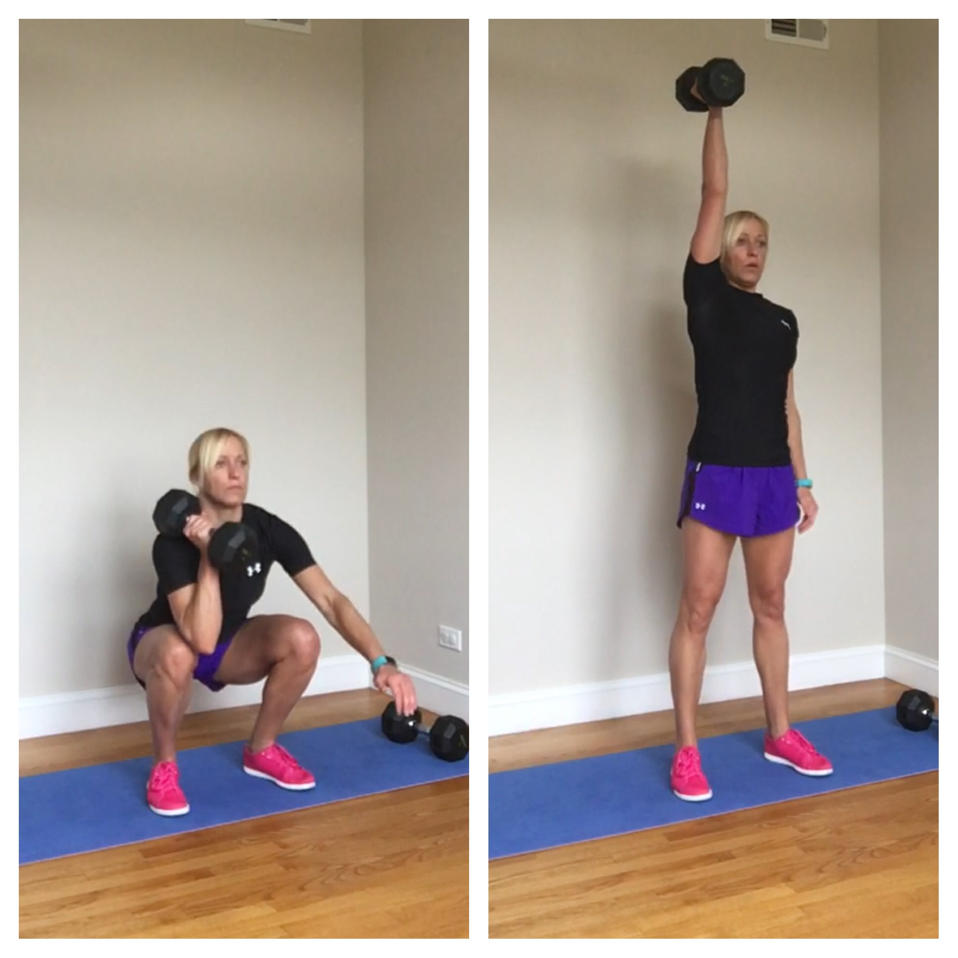 Home Workouts Archives Blonde Ponytail January Indoor Workout Full Body Circuit Timed Total Push Pull Dumbbell